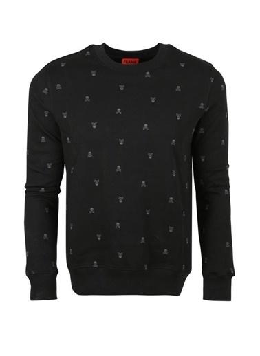 John Frank John Frank Erkek Sweatshirt Jfst05-Skull Siyah